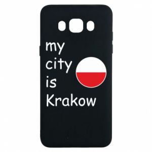 Etui na Samsung J7 2016 My city is Krakow