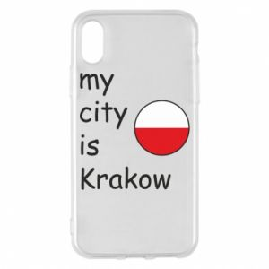 Etui na iPhone X/Xs My city is Krakow