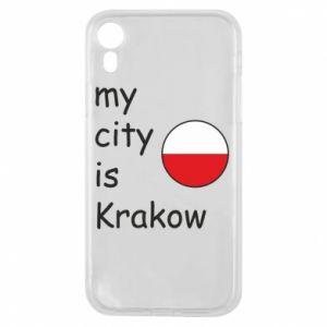 Etui na iPhone XR My city is Krakow