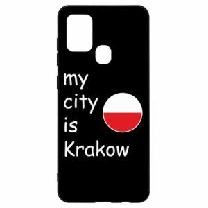 Etui na Samsung A21s My city is Krakow