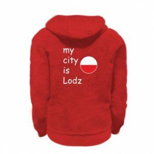 Bluza na zamek dziecięca My city is Lodz