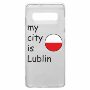 Etui na Samsung S10+ My city is Lublin