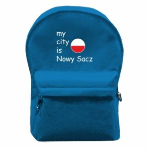 Backpack with front pocket My city is Nowy Sacz