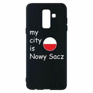 Etui na Samsung A6+ 2018 My city is Nowy Sacz
