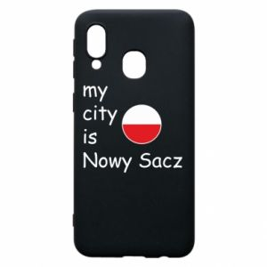 Etui na Samsung A40 My city is Nowy Sacz