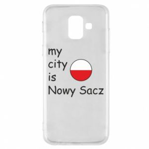 Etui na Samsung A6 2018 My city is Nowy Sacz