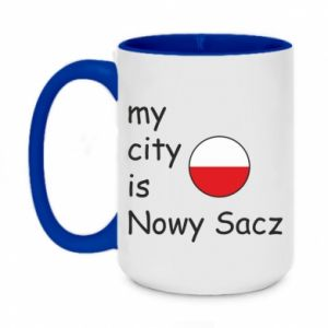 Two-toned mug 450ml My city is Nowy Sacz