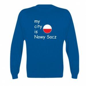 Kid's sweatshirt My city is Nowy Sacz