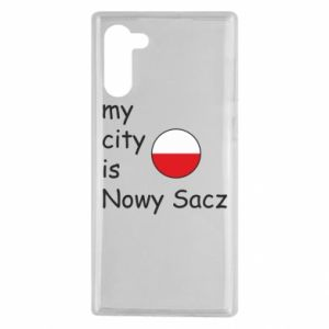 Samsung Note 10 Case My city is Nowy Sacz