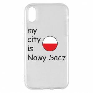 Etui na iPhone X/Xs My city is Nowy Sacz