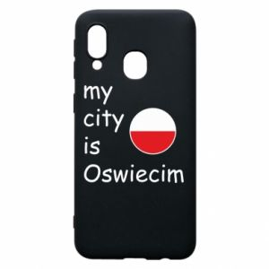 Etui na Samsung A40 My city is Oswiecim