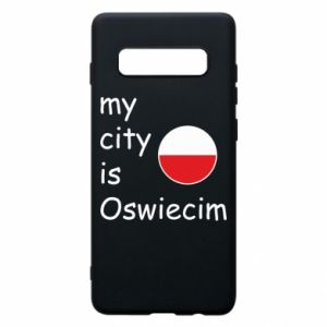 Etui na Samsung S10+ My city is Oswiecim