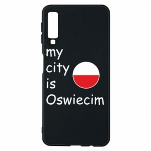 Etui na Samsung A7 2018 My city is Oswiecim