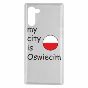 Samsung Note 10 Case My city is Oswiecim
