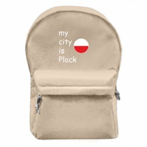 Backpack with front pocket My city is Plock