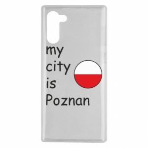 Samsung Note 10 Case My city isPoznan