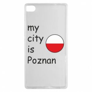 Huawei P8 Case My city isPoznan