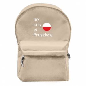 Backpack with front pocket My city is Pruszkow