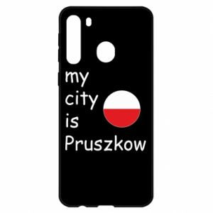 Samsung A21 Case My city is Pruszkow