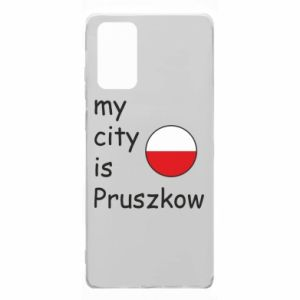 Samsung Note 20 Case My city is Pruszkow