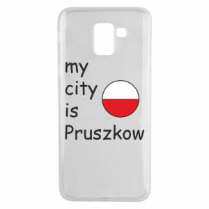 Etui na Samsung J6 My city is Pruszkow