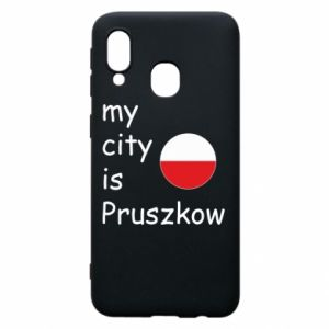 Etui na Samsung A40 My city is Pruszkow