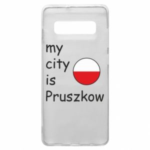Etui na Samsung S10+ My city is Pruszkow