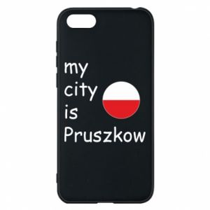 Etui na Huawei Y5 2018 My city is Pruszkow