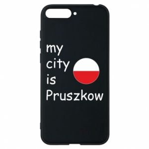 Etui na Huawei Y6 2018 My city is Pruszkow