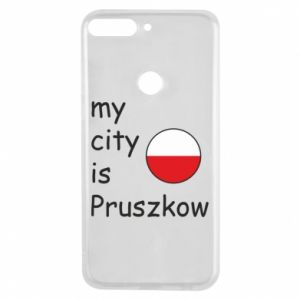 Etui na Huawei Y7 Prime 2018 My city is Pruszkow