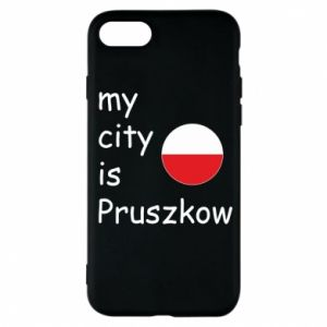 Etui na iPhone 7 My city is Pruszkow