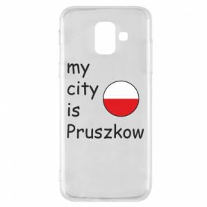 Etui na Samsung A6 2018 My city is Pruszkow