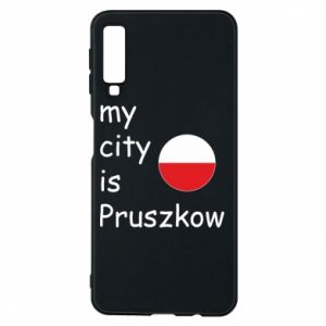Etui na Samsung A7 2018 My city is Pruszkow