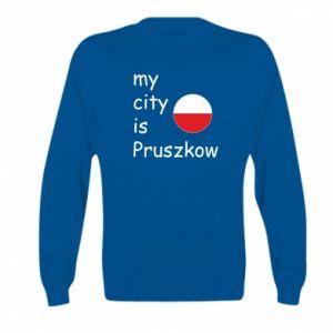 Kid's sweatshirt My city is Pruszkow