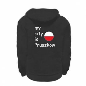 Kid's zipped hoodie % print% My city is Pruszkow
