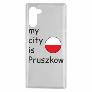 Samsung Note 10 Case My city is Pruszkow