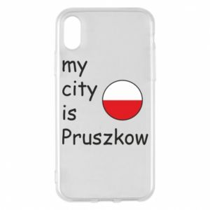Etui na iPhone X/Xs My city is Pruszkow