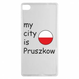 Huawei P8 Case My city is Pruszkow
