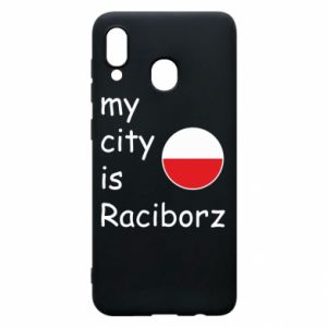 Etui na Samsung A20 My city is Raciborz