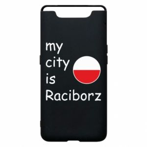 Etui na Samsung A80 My city is Raciborz