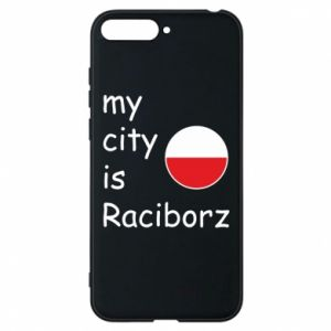 Etui na Huawei Y6 2018 My city is Raciborz