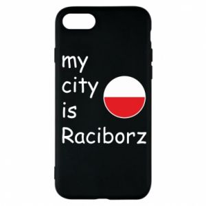 Etui na iPhone 7 My city is Raciborz