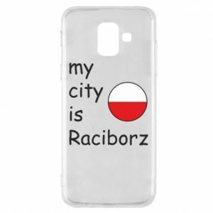 Etui na Samsung A6 2018 My city is Raciborz
