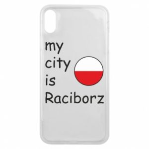 Etui na iPhone Xs Max My city is Raciborz
