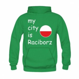Kid's hoodie My city is Raciborz