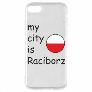 Phone case for iPhone 8 My city is Raciborz