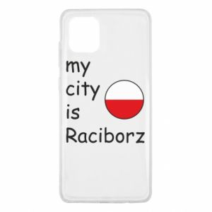 Etui na Samsung Note 10 Lite My city is Raciborz