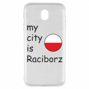 Etui na Samsung J7 2017 My city is Raciborz