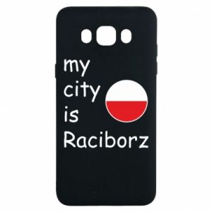 Etui na Samsung J7 2016 My city is Raciborz