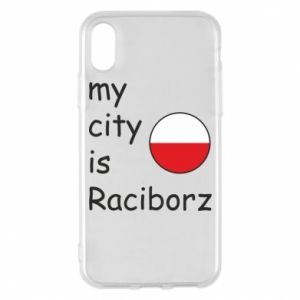 Etui na iPhone X/Xs My city is Raciborz